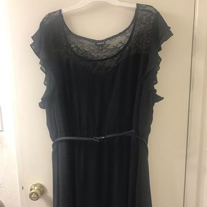 Ruffle Lace Inset Skater Dress from Torrid
